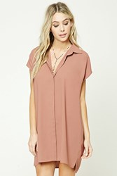 Forever 21 Button Front Shift Dress