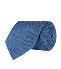 Turnbull And Asser Woven Silk Tie Unisex Blue