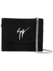 Giuseppe Zanotti Design Chain Strap Shoulder Bag Black
