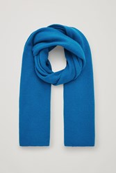 Cos Cashmere Scarf Turquoise