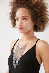 Urban Outfitters Hangin' Tough Ball Chain Necklace Silver