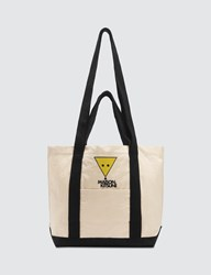 Maison Kitsune Smiley Fox Small Toe Bag White