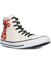 Converse Men's Chuck Taylor Hi Warhol Casual Sneakers From Finish Line White Black Fuchsia Pur