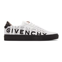 Givenchy White And Black Embroidered Urban Street Sneakers