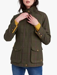 Joules Fieldcoat Tweed Coat Green Check
