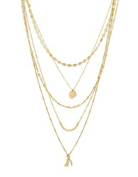 Lonna And Lilly Cubic Zirconia Multi Chain Necklace Gold