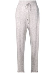 Max And Moi Knitted Straight Trousers Grey