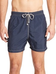 Saks Fifth Avenue Solid Swim Trunks Navy