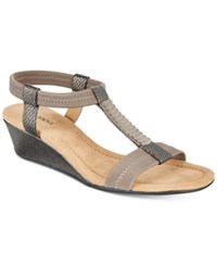 Alfani Women's Vacay Wedge Sandals Only At Macy's Women's Shoes Dark Pewter