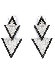 Elise Dray Drop Triangle Earrings Metallic
