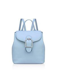 Anne Klein Catherine Leather Backpack Ocean Blue Silver