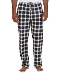 Nautica Plaid Sueded Fleece Pants True Black