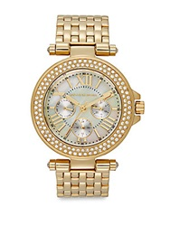 Saks Fifth Avenue Goldtone Stainless Steel Sparkle Bracelet Watch