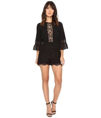 Rachel Zoe Rita Lace Romper Black Women's Jumpsuit And Rompers One Piece