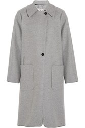Maison Martin Margiela Wool And Cashmere Blend Coat Light Gray