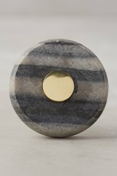 Anthropologie Brass And Marble Knob Grey