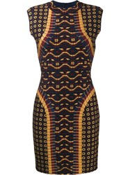 Alaia Patterned Bodycon Dress