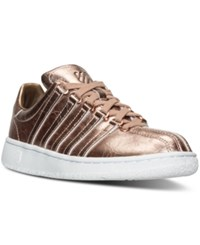 K Swiss Women's Classic Vn Aged Foil Casual Sneakers From Finish Line Rose Gold White