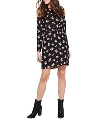 Miss Selfridge Ditsy Print Cold Shoulder Sheath Dress