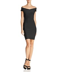 Wow Couture Off The Shoulder Body Con Dress Black