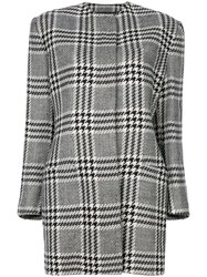 Versace Vintage Houndstooth Coat Black