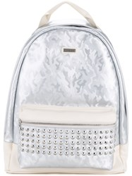Loveless Camouflage Studded Backpack Men Artificial Leather One Size White