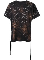 Faith Connexion Star Studded T Shirt Black