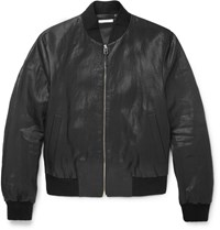 Paul Smith Slim Fit Coated Linen Bomber Jacket Black