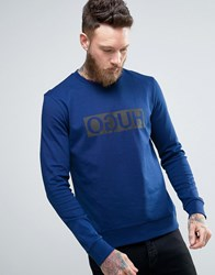 Hugo By Boss Dicago Sweat Crewneck Reverse Logo In Navy Navy