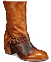 Patricia Nash Lombardy Buckle Mid Boots Women's Shoes Tan