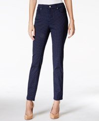 Charter Club Petite Tummy Control Polka Dot Skinny Jeans Only At Macy's