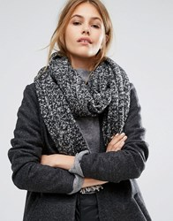 Pieces Grey Marl Scarf With Contrast Tassels Black Moonbeam