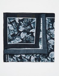 Noose And Monkey Printed Cotton Pocket Square Black