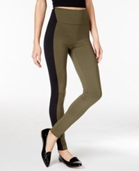 Spanx Textured Leggings Olive Shale Very Black