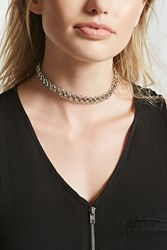 Forever 21 Chain Link Choker Silver Onerror Javascript Fnremovedom 'Colorid_0