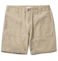 Saturdays Surf Nyc Evan Slub Cotton Shorts Mushroom