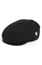 Wigens Melton Wool Earflap Driving Cap Black