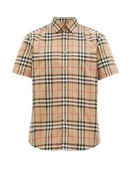 Burberry Nova Check Cotton Shirt Beige Multi