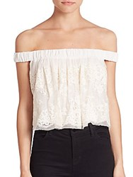 Bec And Bridge Lady Lace Off The Shoulder Top Ivory