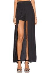 Ella Moss Extreme Lengths High Low Skort Black