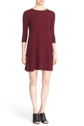 Autumn Cashmere Exposed Seam Swing Dress Red