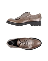 Sgn Giancarlo Paoli Lace Up Shoes Khaki