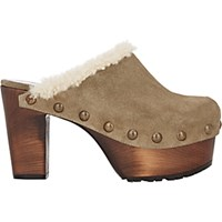 Giuseppe Zanotti Women's Shearling Lined Platform Clogs Green