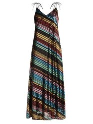 Athena Procopiou Dancing Rainbow Sequinned Dress Multi