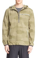 A.P.C. Men's And Outdoor Voices Camo Print Hooded Running Anorak