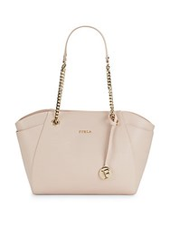 Furla Top Zip Leather Tote Magnolia