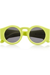 Finds Blue Moon Round Frame Neon Acetate Sunglasses Yellow