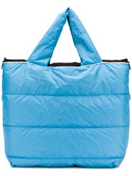 Dorothee Schumacher Quilted Padded Tote Bag Blue