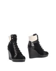 Hogan Rebel Ankle Boots Black