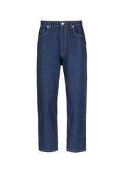 Christopher Kane 'Law And Order' Patch Drop Crotch Jeans Blue